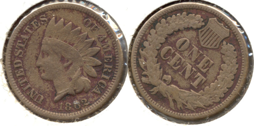 1862 Indian Head Cent Good-6