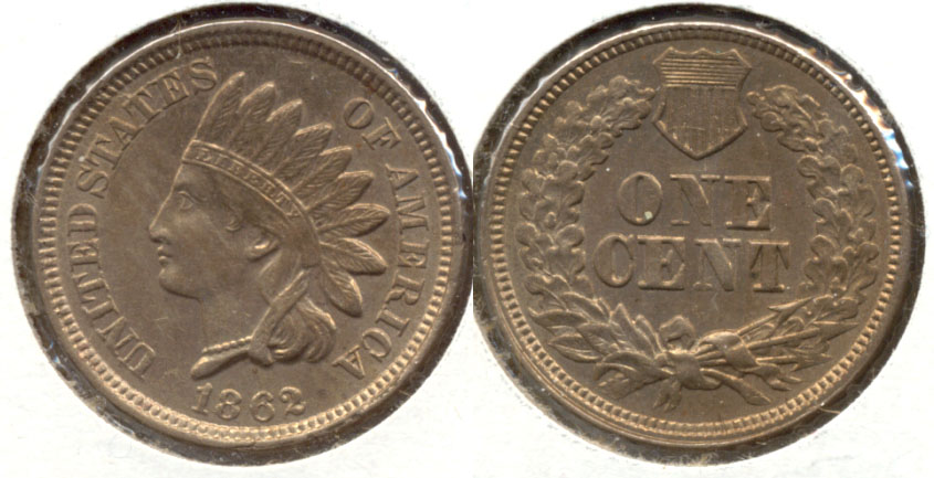1862 Indian Head Cent MS-63 a