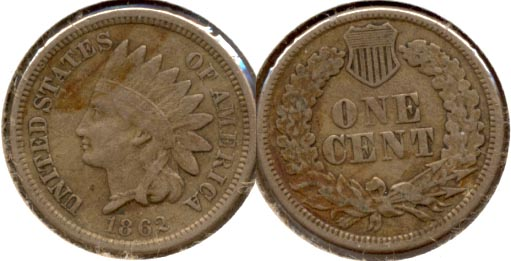 1862 Indian Head Cent VF-20