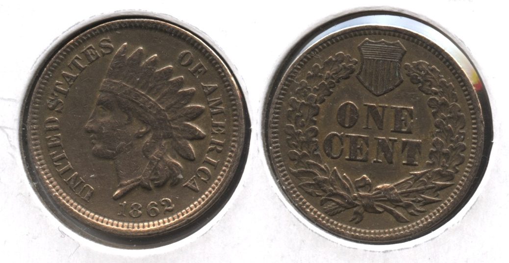 1862 Indian Head Cent VF-20 #n Cleaned