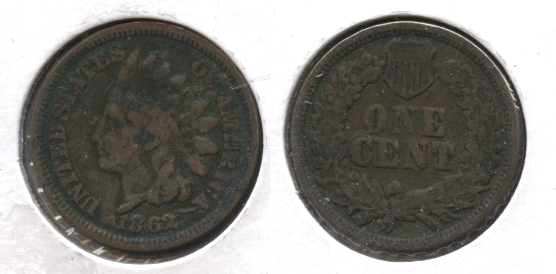 1862 Indian Head Cent VG-8 #o Dark