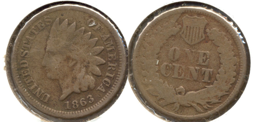 1863 Indian Head Cent Good-4 ax