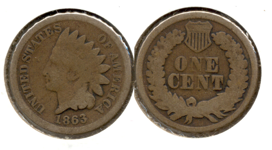 1863 Indian Head Cent Good-4 cg