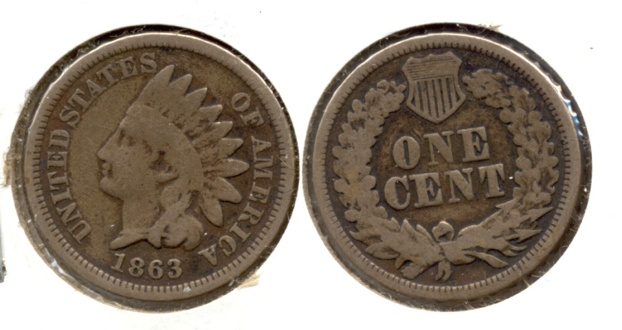 1863 Indian Head Cent Good-4 ch
