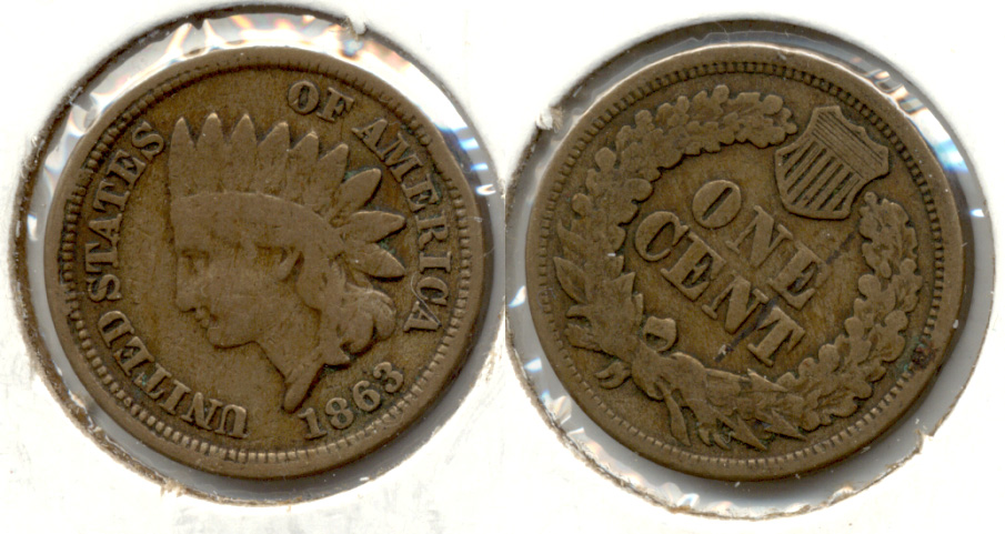 1863 Indian Head Cent Good-4 cs