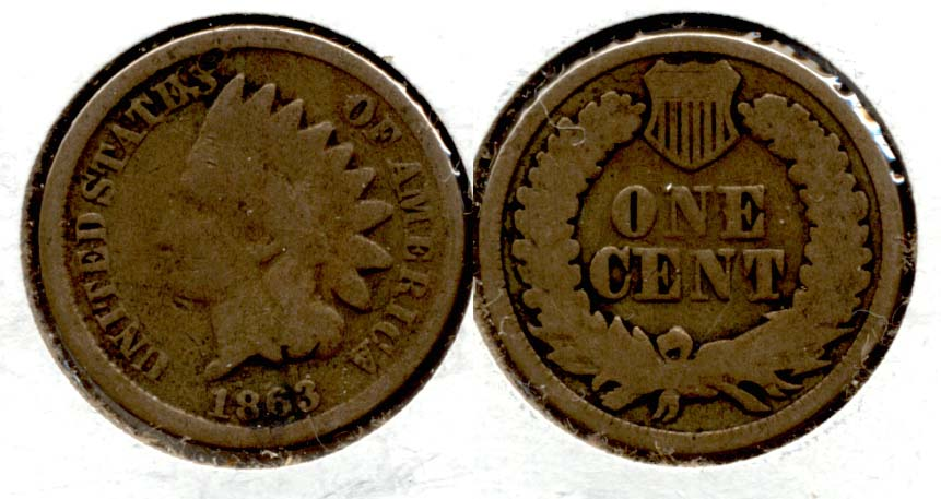1863 Indian Head Cent Good-4 dt