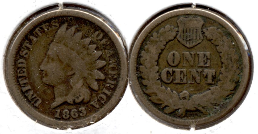 1863 Indian Head Cent Good-4 ep
