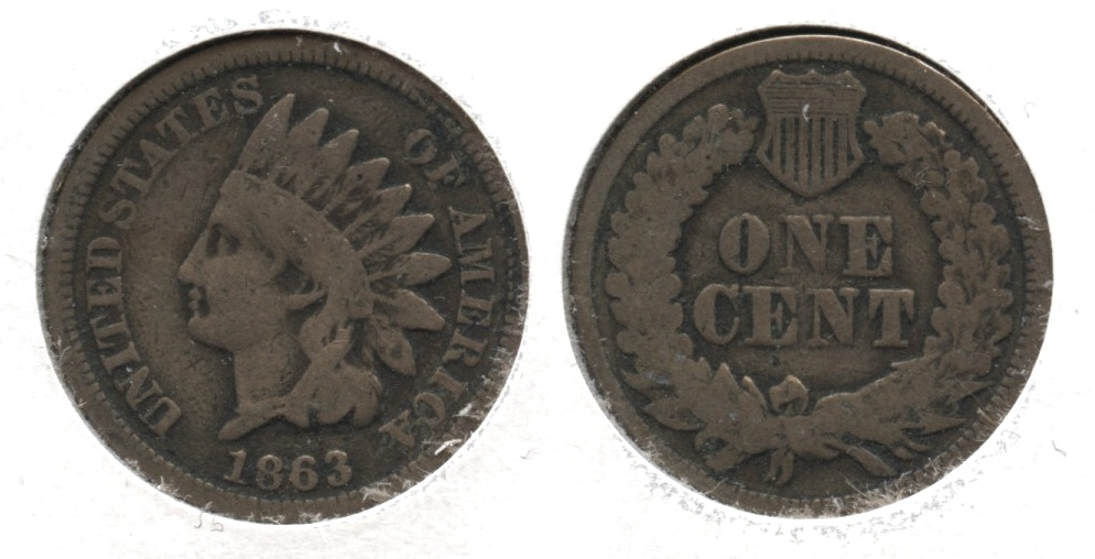 1863 Indian Head Cent Good-4 #fy
