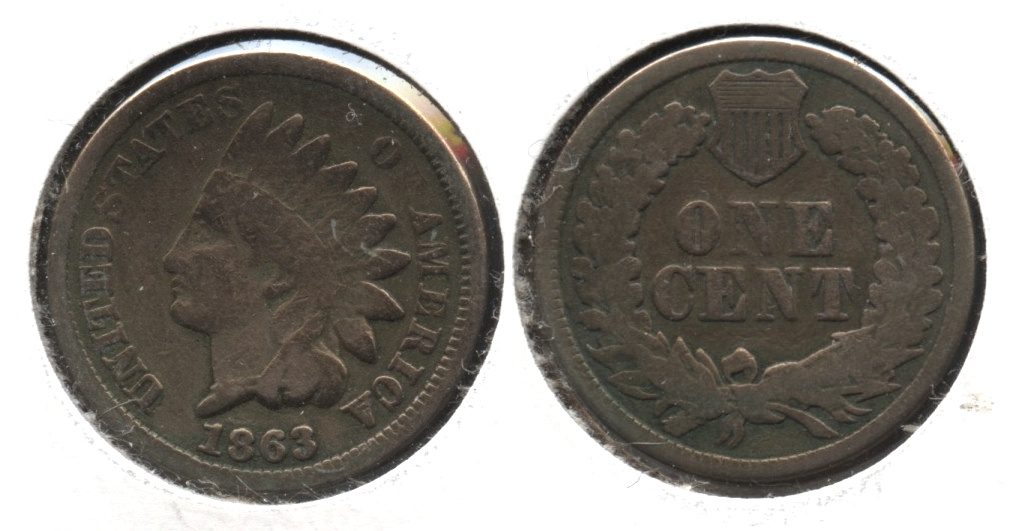 1863 Indian Head Cent Good-4 #gd