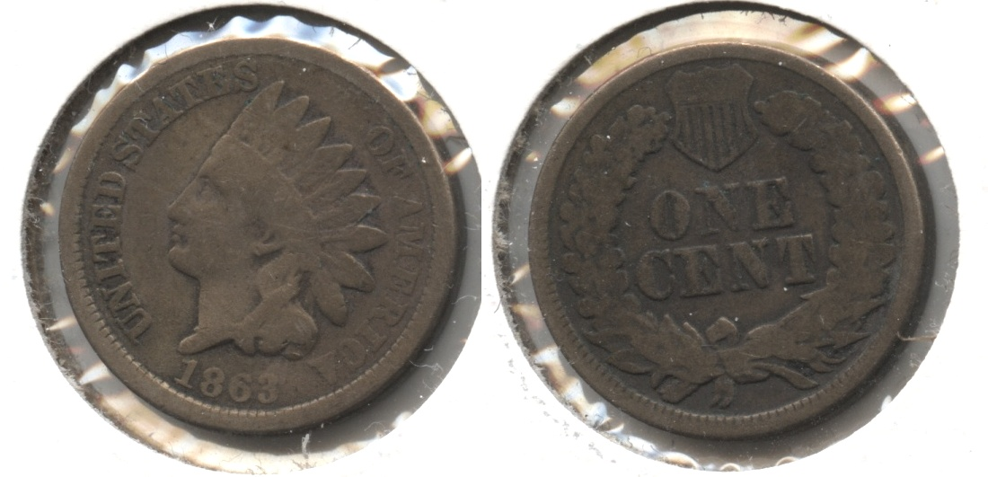 1863 Indian Head Cent Good-4 #ge