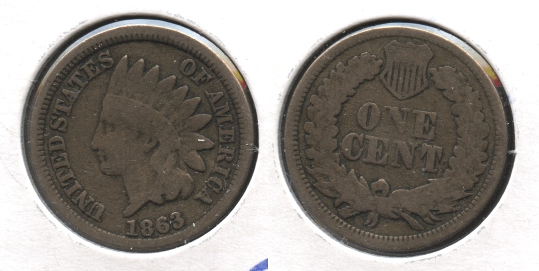 1863 Indian Head Cent Good-4 #gj