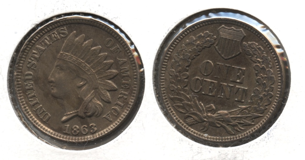 1863 Indian Head Cent MS-60 #a