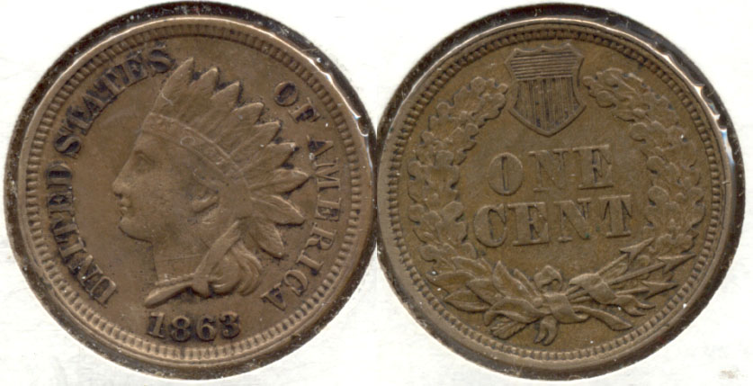 1863 Indian Head Cent VF-20 c