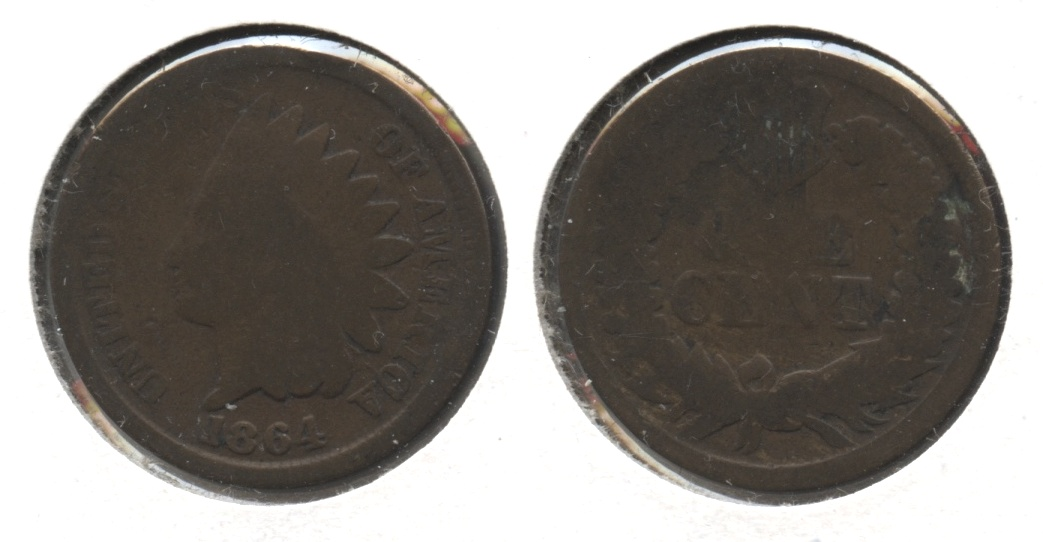 1864 Bronze Indian Head Cent AG-3 #ae