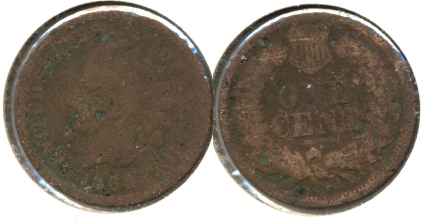 1864 Bronze Indian Head Cent AG-3 e Corroded
