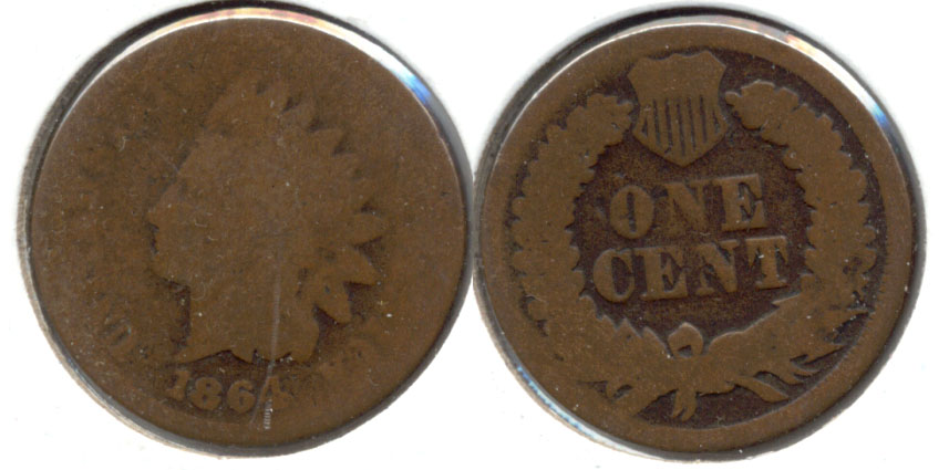 1864 Bronze Indian Head Cent AG-3 j