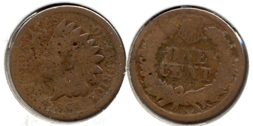 1864 Bronze Indian Head Cent AG-3 m Pitted