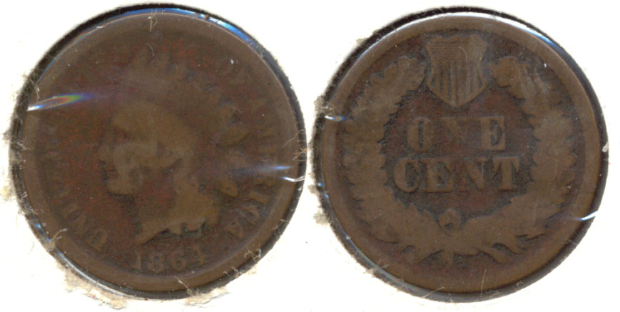 1864 Bronze Indian Head Cent AG-3 o