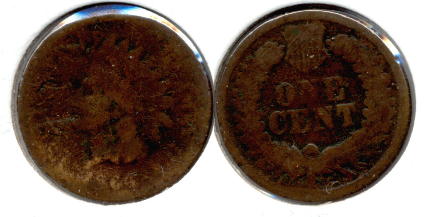 1864 Bronze Indian Head Cent AG-3 r Wiped Obverse