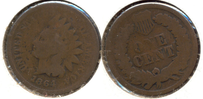 1864 Bronze Indian Head Cent Good-4 ab