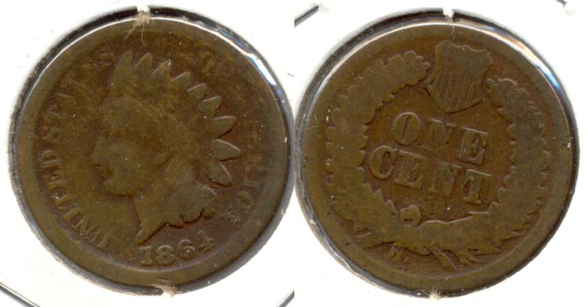 1864 Bronze Indian Head Cent Good-4 ag