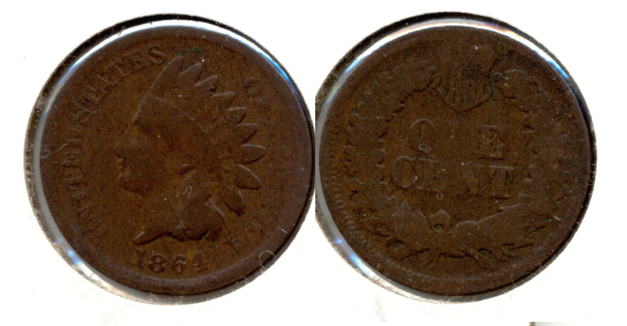 1864 Bronze Indian Head Cent Good-4 am