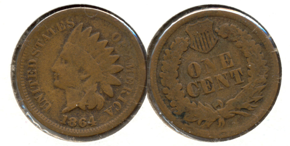 1864 Bronze Indian Head Cent Good-4 aq