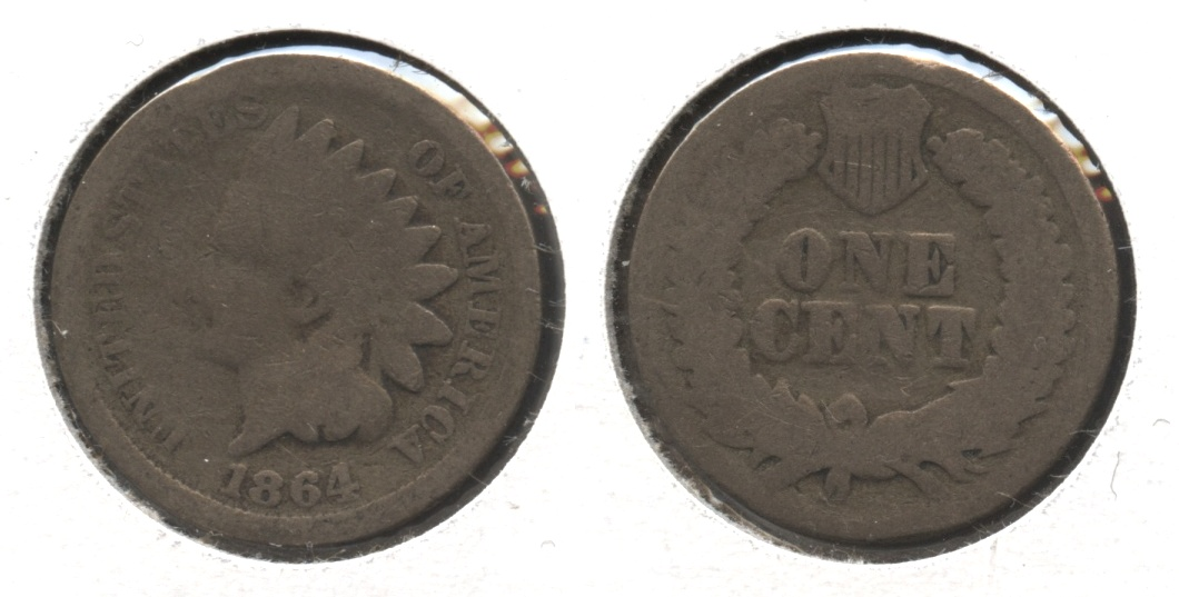 1864 Copper Nickel Indian Head Cent AG-3 #h