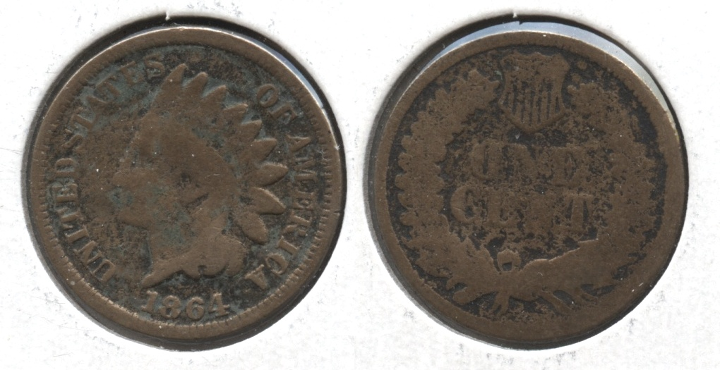 1864 Copper Nickel Indian Head Cent AG-3 #i