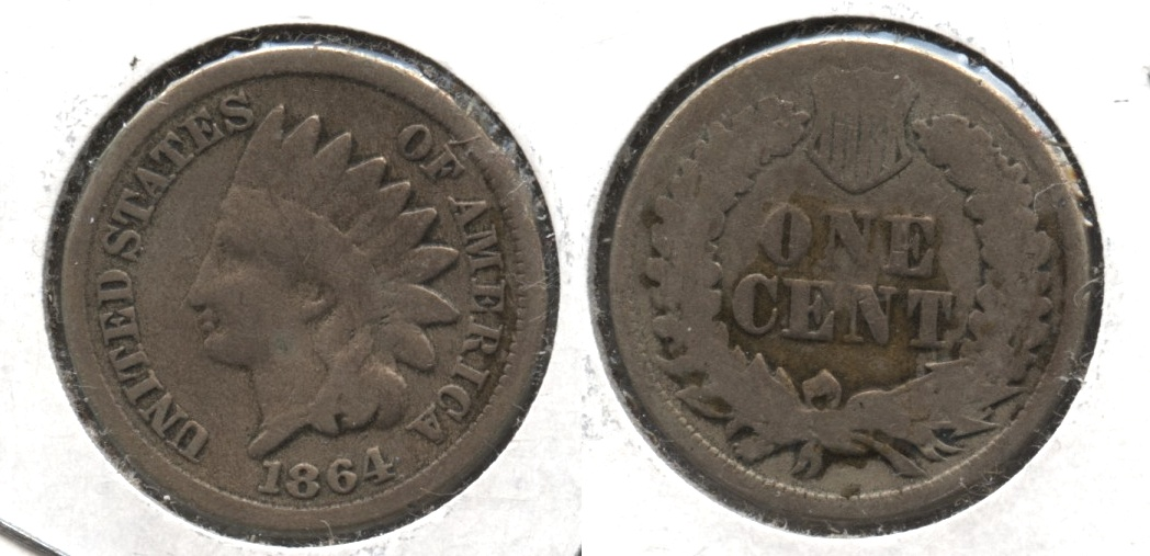 1864 Copper Nickel Indian Head Cent Good-4 #ax