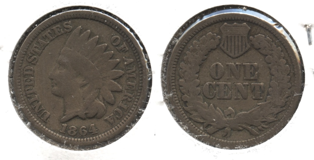 1864 Copper Nickel Indian Head Cent Good-4 #ay