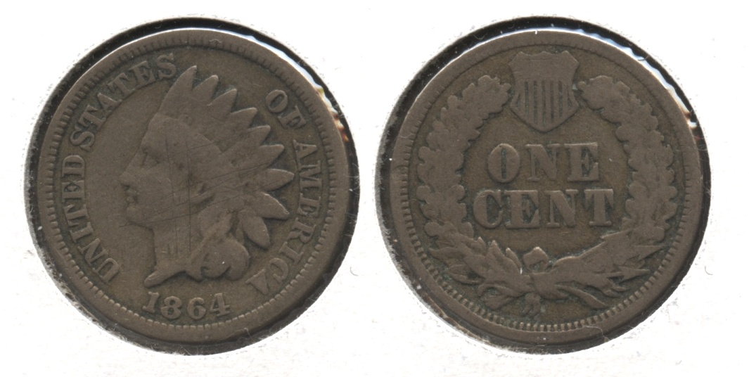 1864 Copper Nickel Indian Head Cent Good-4 #bd