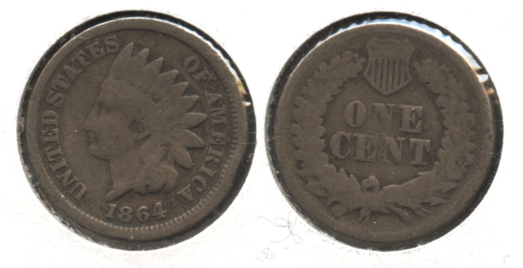 1864 Copper Nickel Indian Head Cent Good-4 #bf