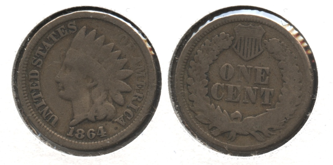 1864 Copper Nickel Indian Head Cent Good-4 #bj