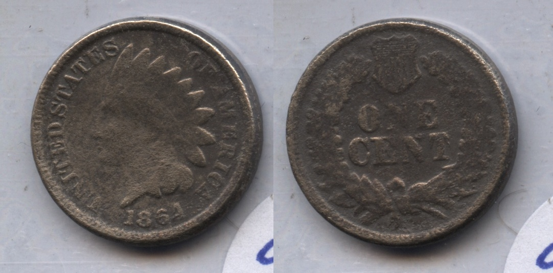1864 Copper Nickel Indian Head Cent Good-4 #bp Porous