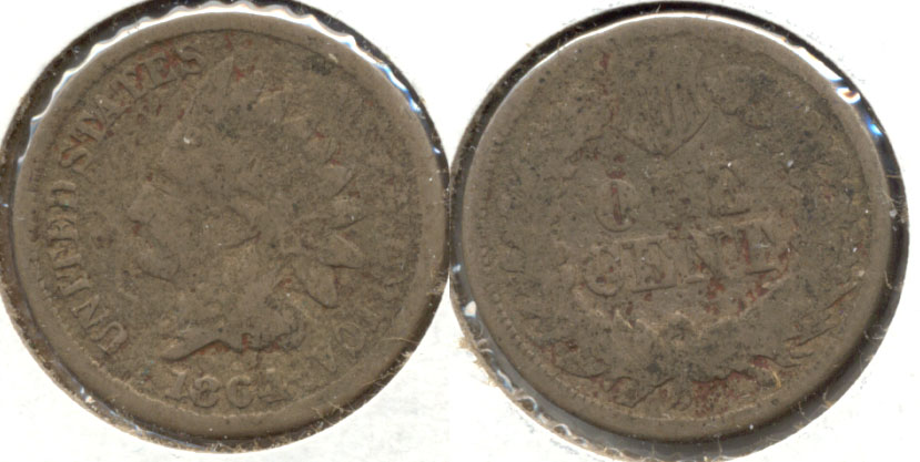 1864 Copper Nickel Indian Head Cent Good-4 g