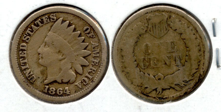 1864 Copper Nickel Indian Head Cent Good-4 r Cleaned Obverse