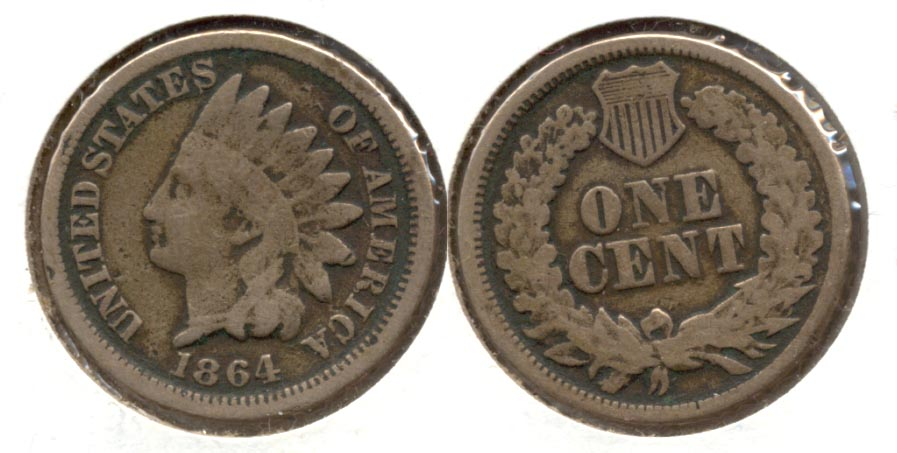 1864 Copper Nickel Indian Head Cent Good-4 x