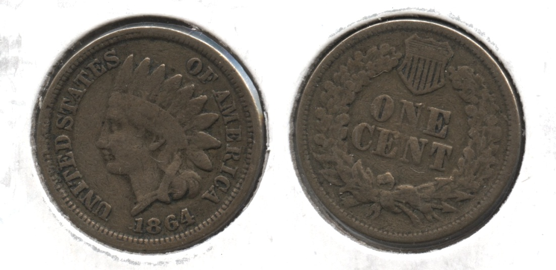 1864 Copper Nickel Indian Head Cent VG-8 #i