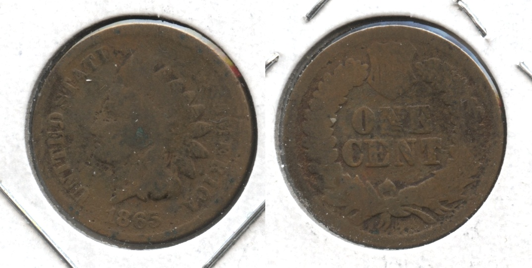 1865 Indian Head Cent AG-3 #aa Cleaned