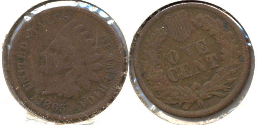 1865 Indian Head Cent AG-3 g