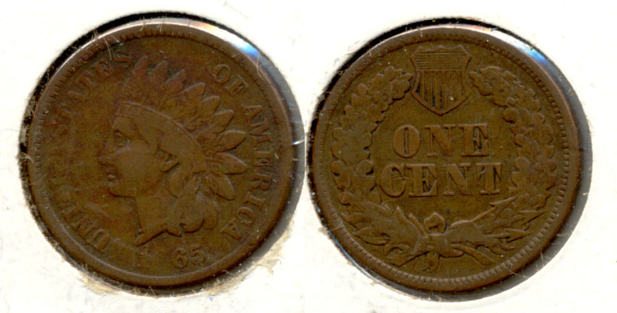 1865 Indian Head Cent Fine-12 g Filled 8