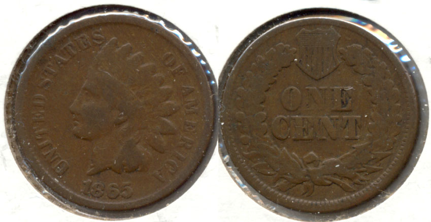 1865 Indian Head Cent Good-4 ag