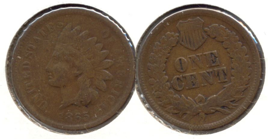 1865 Indian Head Cent Good-4 ao