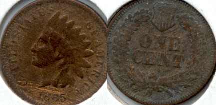 1865 Indian Head Cent Good-4 l Obverse Scratches