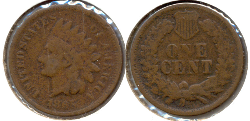1865 Indian Head Cent Good-4 x