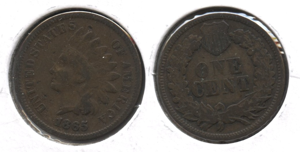 1865 Indian Head Cent VG-10