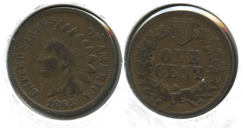 1865 Indian Head Cent VG-8 #k
