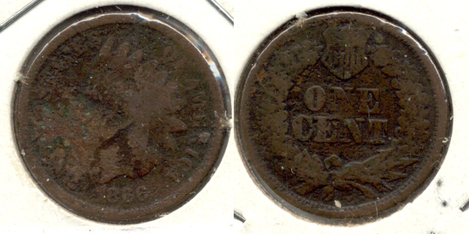 1866 Indian Head Cent AG-3 c Porous