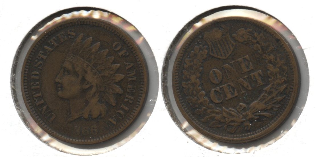1866 Indian Head Cent Fine-12 #b
